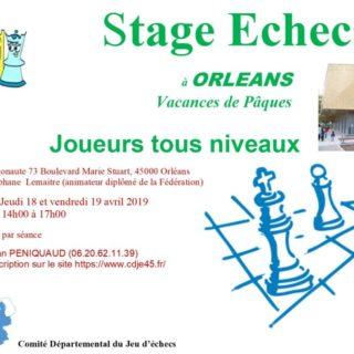 Echecs stage Orléans